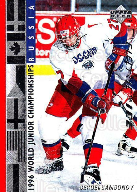 1995-96 Upper Deck Electric Ice #554 Sergei Samsonov<br/>11 In Stock - $2.00 each - <a href=https://centericecollectibles.foxycart.com/cart?name=1995-96%20Upper%20Deck%20Electric%20Ice%20%23554%20Sergei%20Samsonov...&quantity_max=11&price=$2.00&code=186051 class=foxycart> Buy it now! </a>