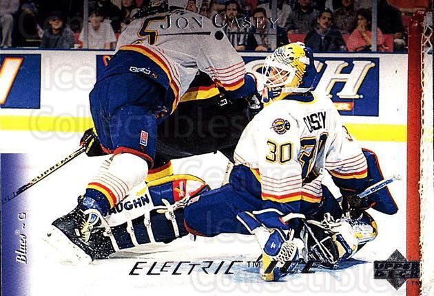 1995-96 Upper Deck Electric Ice #70 Jon Casey<br/>5 In Stock - $2.00 each - <a href=https://centericecollectibles.foxycart.com/cart?name=1995-96%20Upper%20Deck%20Electric%20Ice%20%2370%20Jon%20Casey...&quantity_max=5&price=$2.00&code=186080 class=foxycart> Buy it now! </a>