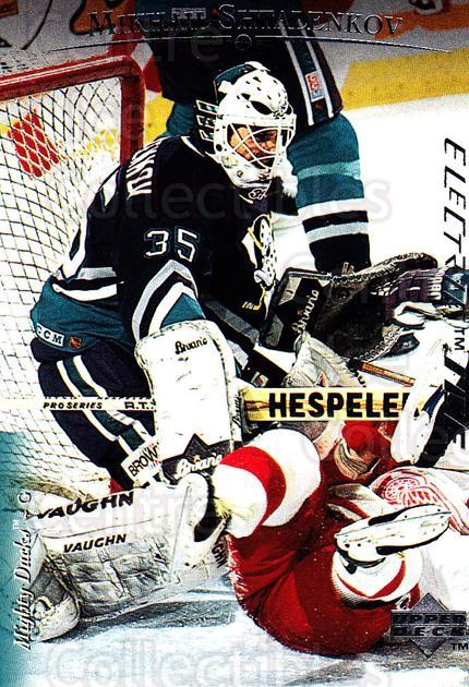 1995-96 Upper Deck Electric Ice #91 Mikhail Shtalenkov<br/>6 In Stock - $2.00 each - <a href=https://centericecollectibles.foxycart.com/cart?name=1995-96%20Upper%20Deck%20Electric%20Ice%20%2391%20Mikhail%20Shtalen...&quantity_max=6&price=$2.00&code=186101 class=foxycart> Buy it now! </a>