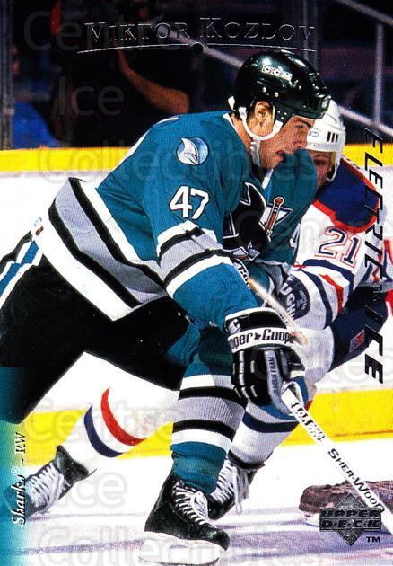 1995-96 Upper Deck Electric Ice #92 Viktor Kozlov<br/>6 In Stock - $2.00 each - <a href=https://centericecollectibles.foxycart.com/cart?name=1995-96%20Upper%20Deck%20Electric%20Ice%20%2392%20Viktor%20Kozlov...&quantity_max=6&price=$2.00&code=186102 class=foxycart> Buy it now! </a>