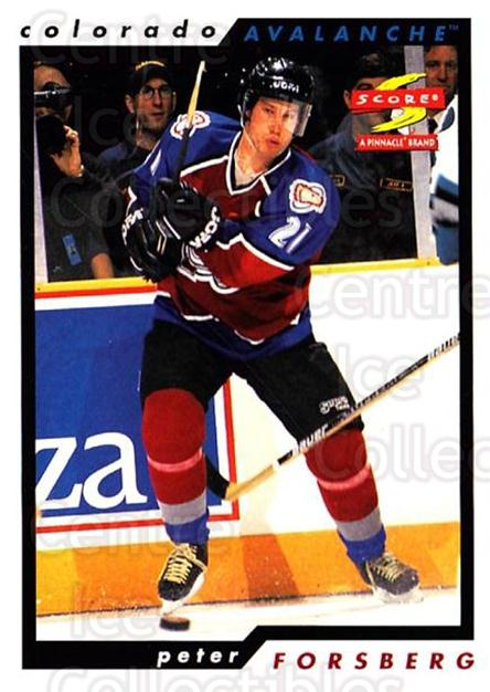 1996-97 Score #99 Peter Forsberg<br/>4 In Stock - $2.00 each - <a href=https://centericecollectibles.foxycart.com/cart?name=1996-97%20Score%20%2399%20Peter%20Forsberg...&quantity_max=4&price=$2.00&code=186291 class=foxycart> Buy it now! </a>