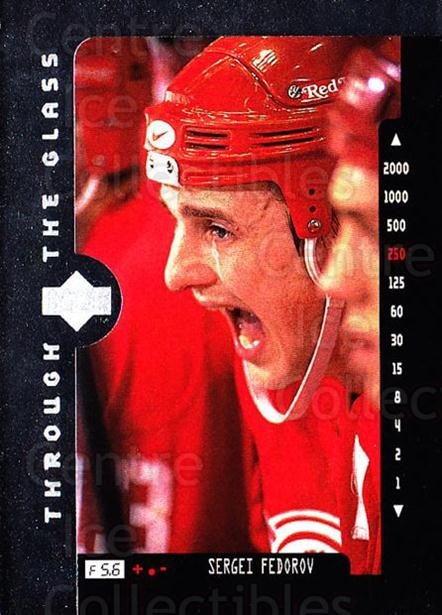1996-97 Upper Deck #206 Sergei Fedorov<br/>8 In Stock - $1.00 each - <a href=https://centericecollectibles.foxycart.com/cart?name=1996-97%20Upper%20Deck%20%23206%20Sergei%20Fedorov...&quantity_max=8&price=$1.00&code=186300 class=foxycart> Buy it now! </a>