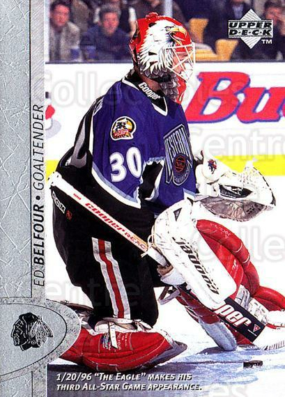 1996-97 Upper Deck #234 Ed Belfour<br/>6 In Stock - $1.00 each - <a href=https://centericecollectibles.foxycart.com/cart?name=1996-97%20Upper%20Deck%20%23234%20Ed%20Belfour...&price=$1.00&code=186331 class=foxycart> Buy it now! </a>