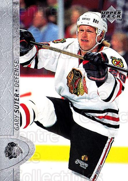 1996-97 Upper Deck #235 Gary Suter<br/>5 In Stock - $1.00 each - <a href=https://centericecollectibles.foxycart.com/cart?name=1996-97%20Upper%20Deck%20%23235%20Gary%20Suter...&quantity_max=5&price=$1.00&code=186332 class=foxycart> Buy it now! </a>