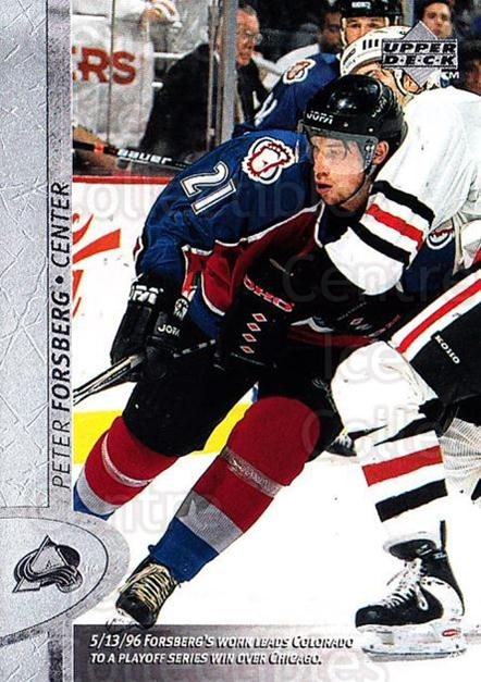 1996-97 Upper Deck #239 Peter Forsberg<br/>5 In Stock - $1.00 each - <a href=https://centericecollectibles.foxycart.com/cart?name=1996-97%20Upper%20Deck%20%23239%20Peter%20Forsberg...&quantity_max=5&price=$1.00&code=186336 class=foxycart> Buy it now! </a>