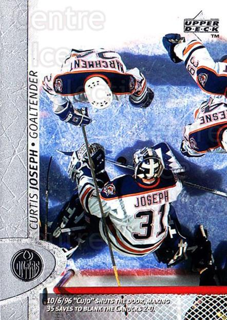 1996-97 Upper Deck #256 Curtis Joseph<br/>6 In Stock - $1.00 each - <a href=https://centericecollectibles.foxycart.com/cart?name=1996-97%20Upper%20Deck%20%23256%20Curtis%20Joseph...&quantity_max=6&price=$1.00&code=186355 class=foxycart> Buy it now! </a>