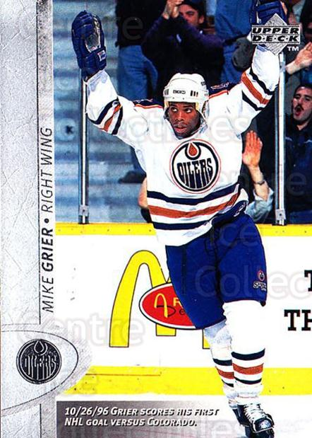 1996-97 Upper Deck #259 Mike Grier<br/>5 In Stock - $1.00 each - <a href=https://centericecollectibles.foxycart.com/cart?name=1996-97%20Upper%20Deck%20%23259%20Mike%20Grier...&quantity_max=5&price=$1.00&code=186358 class=foxycart> Buy it now! </a>