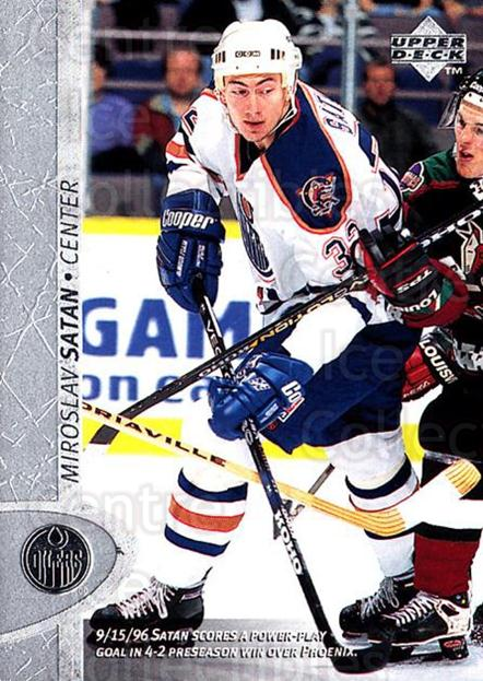1996-97 Upper Deck #260 Miroslav Satan<br/>6 In Stock - $1.00 each - <a href=https://centericecollectibles.foxycart.com/cart?name=1996-97%20Upper%20Deck%20%23260%20Miroslav%20Satan...&quantity_max=6&price=$1.00&code=186360 class=foxycart> Buy it now! </a>