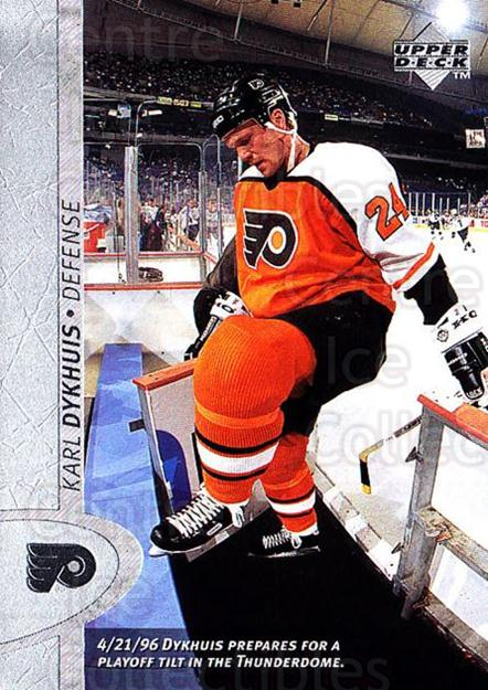 1996-97 Upper Deck #311 Karl Dykhuis<br/>5 In Stock - $1.00 each - <a href=https://centericecollectibles.foxycart.com/cart?name=1996-97%20Upper%20Deck%20%23311%20Karl%20Dykhuis...&quantity_max=5&price=$1.00&code=186417 class=foxycart> Buy it now! </a>