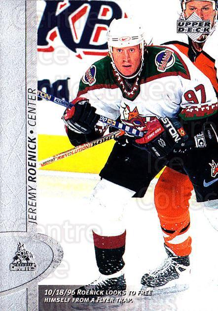 1996-97 Upper Deck #312 Jeremy Roenick<br/>6 In Stock - $1.00 each - <a href=https://centericecollectibles.foxycart.com/cart?name=1996-97%20Upper%20Deck%20%23312%20Jeremy%20Roenick...&quantity_max=6&price=$1.00&code=186418 class=foxycart> Buy it now! </a>