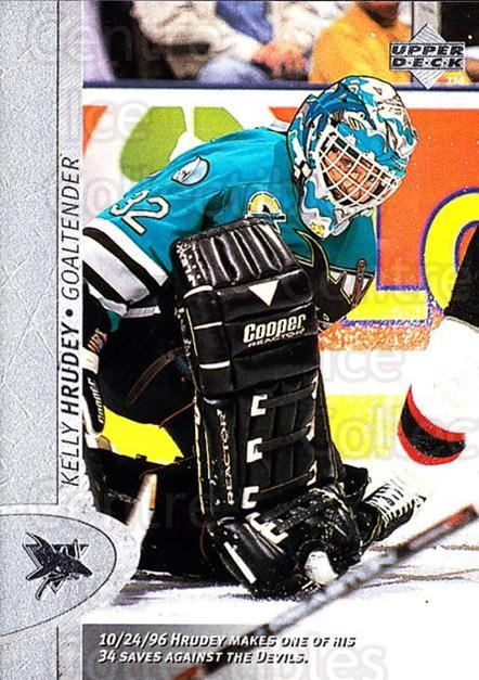 1996-97 Upper Deck #330 Kelly Hrudey<br/>6 In Stock - $1.00 each - <a href=https://centericecollectibles.foxycart.com/cart?name=1996-97%20Upper%20Deck%20%23330%20Kelly%20Hrudey...&quantity_max=6&price=$1.00&code=186438 class=foxycart> Buy it now! </a>