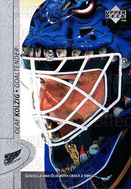 1996-97 Upper Deck #354 Olaf Kolzig<br/>6 In Stock - $1.00 each - <a href=https://centericecollectibles.foxycart.com/cart?name=1996-97%20Upper%20Deck%20%23354%20Olaf%20Kolzig...&quantity_max=6&price=$1.00&code=186464 class=foxycart> Buy it now! </a>