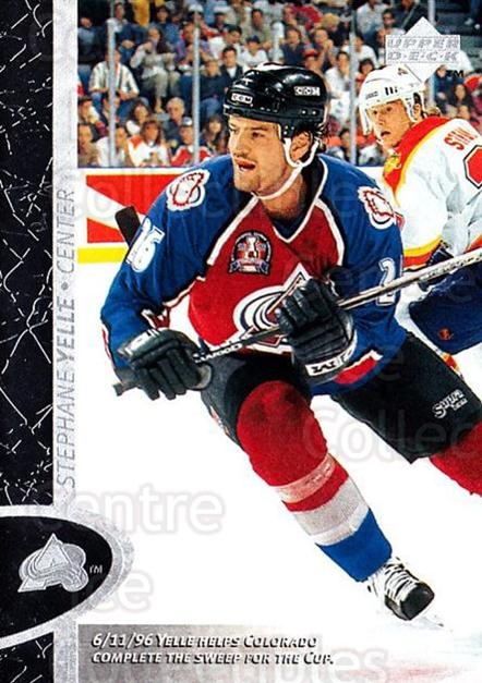 1996-97 Upper Deck #40 Stephane Yelle<br/>7 In Stock - $1.00 each - <a href=https://centericecollectibles.foxycart.com/cart?name=1996-97%20Upper%20Deck%20%2340%20Stephane%20Yelle...&quantity_max=7&price=$1.00&code=186500 class=foxycart> Buy it now! </a>