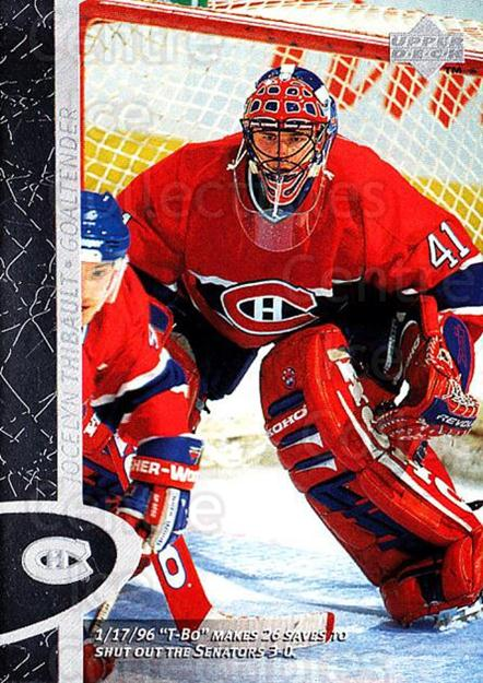 1996-97 Upper Deck #83 Jocelyn Thibault<br/>7 In Stock - $1.00 each - <a href=https://centericecollectibles.foxycart.com/cart?name=1996-97%20Upper%20Deck%20%2383%20Jocelyn%20Thibaul...&quantity_max=7&price=$1.00&code=186544 class=foxycart> Buy it now! </a>