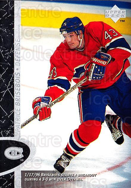 1996-97 Upper Deck #88 Patrice Brisebois<br/>6 In Stock - $1.00 each - <a href=https://centericecollectibles.foxycart.com/cart?name=1996-97%20Upper%20Deck%20%2388%20Patrice%20Brisebo...&quantity_max=6&price=$1.00&code=186548 class=foxycart> Buy it now! </a>