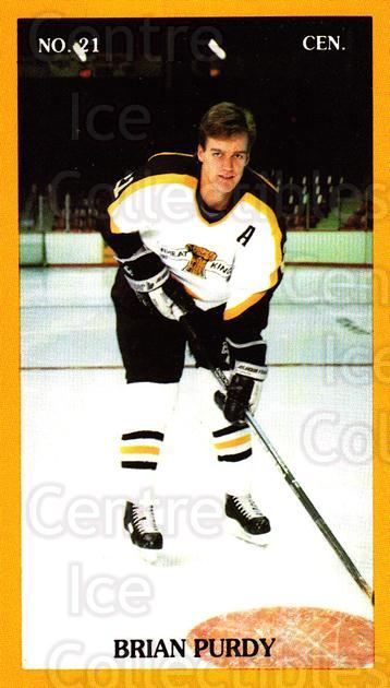 1990-91 Brandon Wheat Kings #14 Brian Purdy<br/>3 In Stock - $3.00 each - <a href=https://centericecollectibles.foxycart.com/cart?name=1990-91%20Brandon%20Wheat%20Kings%20%2314%20Brian%20Purdy...&quantity_max=3&price=$3.00&code=18675 class=foxycart> Buy it now! </a>