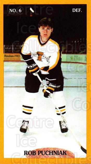 1990-91 Brandon Wheat Kings #19 Rob Puchniak<br/>3 In Stock - $3.00 each - <a href=https://centericecollectibles.foxycart.com/cart?name=1990-91%20Brandon%20Wheat%20Kings%20%2319%20Rob%20Puchniak...&quantity_max=3&price=$3.00&code=18678 class=foxycart> Buy it now! </a>