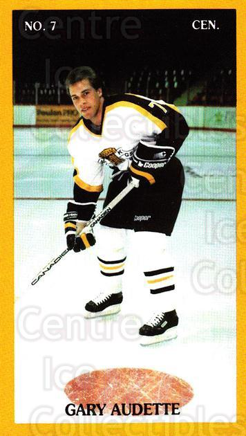1990-91 Brandon Wheat Kings #20 Gary Audette<br/>3 In Stock - $3.00 each - <a href=https://centericecollectibles.foxycart.com/cart?name=1990-91%20Brandon%20Wheat%20Kings%20%2320%20Gary%20Audette...&quantity_max=3&price=$3.00&code=18680 class=foxycart> Buy it now! </a>