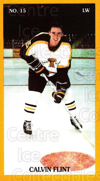 1990-91 Brandon Wheat Kings #21 Calvin Flint<br/>3 In Stock - $3.00 each - <a href=https://centericecollectibles.foxycart.com/cart?name=1990-91%20Brandon%20Wheat%20Kings%20%2321%20Calvin%20Flint...&quantity_max=3&price=$3.00&code=18681 class=foxycart> Buy it now! </a>