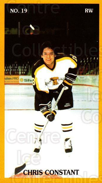 1990-91 Brandon Wheat Kings #23 Chris Constant<br/>4 In Stock - $3.00 each - <a href=https://centericecollectibles.foxycart.com/cart?name=1990-91%20Brandon%20Wheat%20Kings%20%2323%20Chris%20Constant...&quantity_max=4&price=$3.00&code=18683 class=foxycart> Buy it now! </a>
