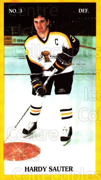 1990-91 Brandon Wheat Kings #5 Hardy Sauter<br/>4 In Stock - $3.00 each - <a href=https://centericecollectibles.foxycart.com/cart?name=1990-91%20Brandon%20Wheat%20Kings%20%235%20Hardy%20Sauter...&quantity_max=4&price=$3.00&code=18686 class=foxycart> Buy it now! </a>