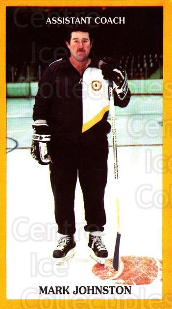 1990-91 Brandon Wheat Kings #6 Mark Johnston<br/>4 In Stock - $3.00 each - <a href=https://centericecollectibles.foxycart.com/cart?name=1990-91%20Brandon%20Wheat%20Kings%20%236%20Mark%20Johnston...&quantity_max=4&price=$3.00&code=18687 class=foxycart> Buy it now! </a>