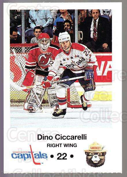 1990-91 Washington Capitals Smokey #4 Dino Ciccarelli<br/>1 In Stock - $3.00 each - <a href=https://centericecollectibles.foxycart.com/cart?name=1990-91%20Washington%20Capitals%20Smokey%20%234%20Dino%20Ciccarelli...&quantity_max=1&price=$3.00&code=18729 class=foxycart> Buy it now! </a>