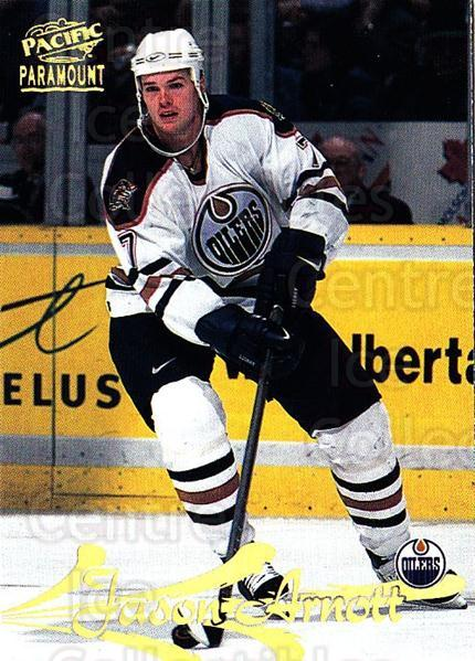 1997-98 Paramount #72 Jason Arnott<br/>5 In Stock - $1.00 each - <a href=https://centericecollectibles.foxycart.com/cart?name=1997-98%20Paramount%20%2372%20Jason%20Arnott...&quantity_max=5&price=$1.00&code=187337 class=foxycart> Buy it now! </a>