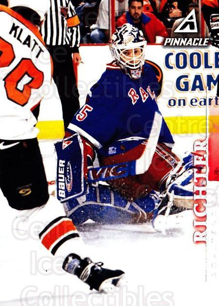 1997-98 Pinnacle #55 Mike Richter<br/>6 In Stock - $1.00 each - <a href=https://centericecollectibles.foxycart.com/cart?name=1997-98%20Pinnacle%20%2355%20Mike%20Richter...&quantity_max=6&price=$1.00&code=187482 class=foxycart> Buy it now! </a>