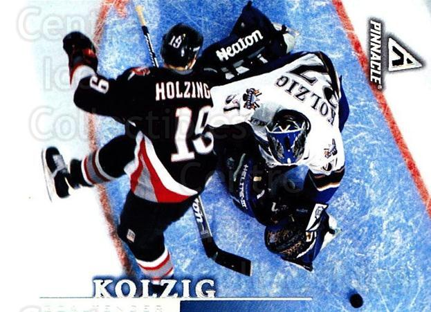 1997-98 Pinnacle #89 Olaf Kolzig<br/>6 In Stock - $1.00 each - <a href=https://centericecollectibles.foxycart.com/cart?name=1997-98%20Pinnacle%20%2389%20Olaf%20Kolzig...&quantity_max=6&price=$1.00&code=187519 class=foxycart> Buy it now! </a>