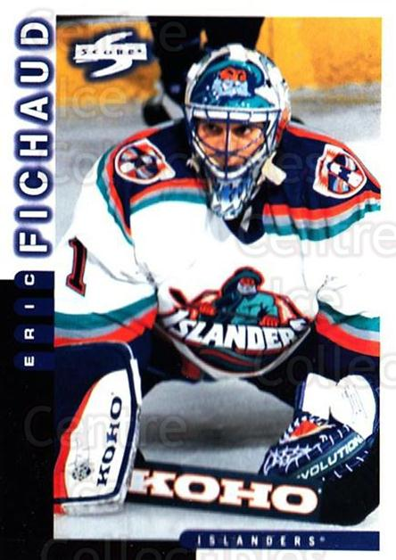 1997-98 Score #26 Eric Fichaud<br/>2 In Stock - $1.00 each - <a href=https://centericecollectibles.foxycart.com/cart?name=1997-98%20Score%20%2326%20Eric%20Fichaud...&price=$1.00&code=187541 class=foxycart> Buy it now! </a>