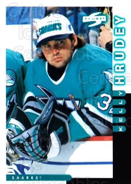 1997-98 Score #50 Kelly Hrudey<br/>4 In Stock - $1.00 each - <a href=https://centericecollectibles.foxycart.com/cart?name=1997-98%20Score%20%2350%20Kelly%20Hrudey...&quantity_max=4&price=$1.00&code=187554 class=foxycart> Buy it now! </a>