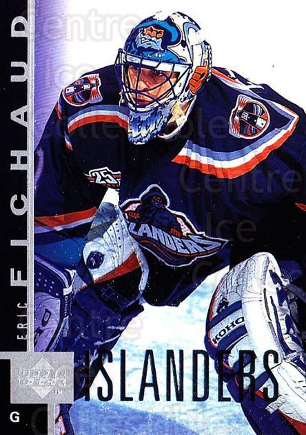 1997-98 Upper Deck #102 Eric Fichaud<br/>2 In Stock - $1.00 each - <a href=https://centericecollectibles.foxycart.com/cart?name=1997-98%20Upper%20Deck%20%23102%20Eric%20Fichaud...&price=$1.00&code=187577 class=foxycart> Buy it now! </a>