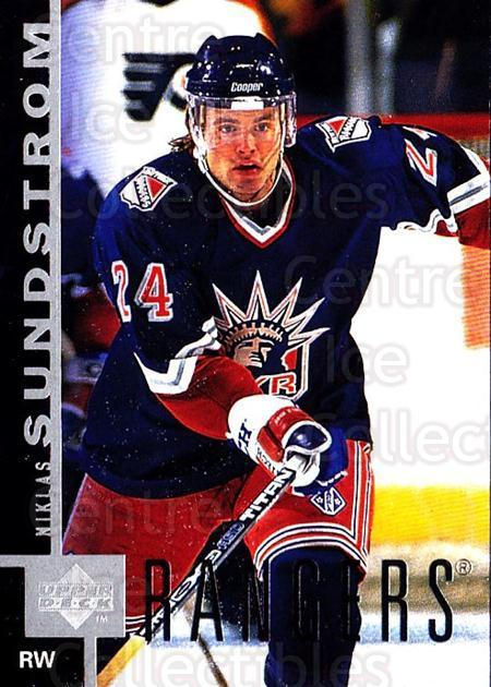 1997-98 Upper Deck #106 Niklas Sundstrom<br/>4 In Stock - $1.00 each - <a href=https://centericecollectibles.foxycart.com/cart?name=1997-98%20Upper%20Deck%20%23106%20Niklas%20Sundstro...&quantity_max=4&price=$1.00&code=187581 class=foxycart> Buy it now! </a>