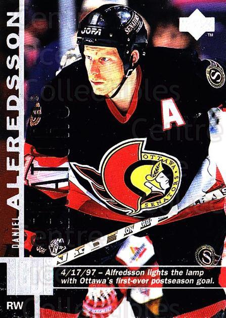 1997-98 Upper Deck #112 Daniel Alfredsson<br/>5 In Stock - $1.00 each - <a href=https://centericecollectibles.foxycart.com/cart?name=1997-98%20Upper%20Deck%20%23112%20Daniel%20Alfredss...&quantity_max=5&price=$1.00&code=187588 class=foxycart> Buy it now! </a>