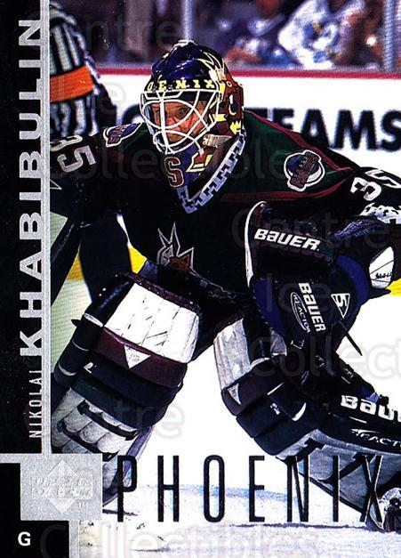 1997-98 Upper Deck #129 Nikolai Khabibulin<br/>6 In Stock - $1.00 each - <a href=https://centericecollectibles.foxycart.com/cart?name=1997-98%20Upper%20Deck%20%23129%20Nikolai%20Khabibu...&quantity_max=6&price=$1.00&code=187606 class=foxycart> Buy it now! </a>