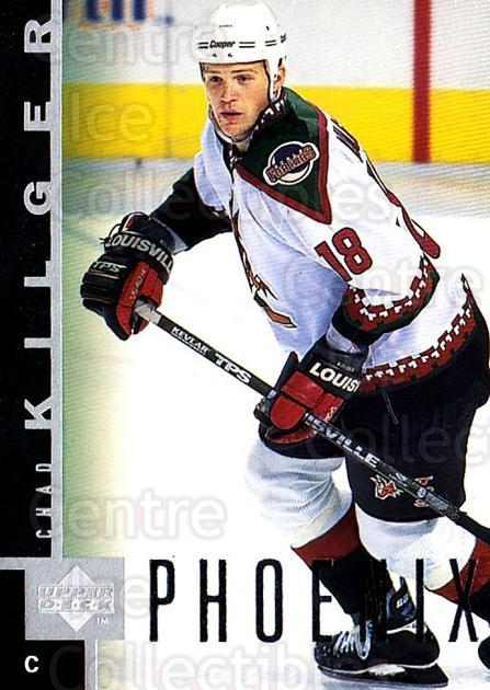 1997-98 Upper Deck #130 Chad Kilger<br/>4 In Stock - $1.00 each - <a href=https://centericecollectibles.foxycart.com/cart?name=1997-98%20Upper%20Deck%20%23130%20Chad%20Kilger...&quantity_max=4&price=$1.00&code=187608 class=foxycart> Buy it now! </a>