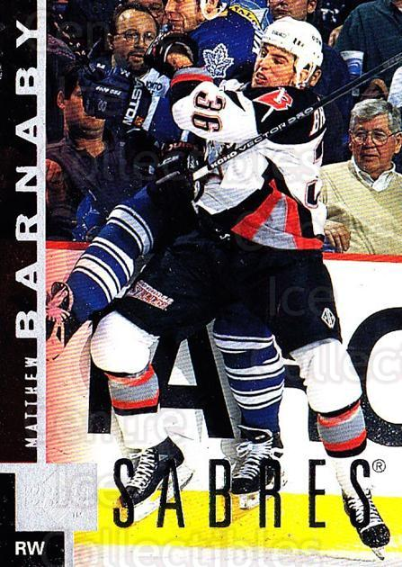 1997-98 Upper Deck #16 Matthew Barnaby<br/>5 In Stock - $1.00 each - <a href=https://centericecollectibles.foxycart.com/cart?name=1997-98%20Upper%20Deck%20%2316%20Matthew%20Barnaby...&quantity_max=5&price=$1.00&code=187640 class=foxycart> Buy it now! </a>