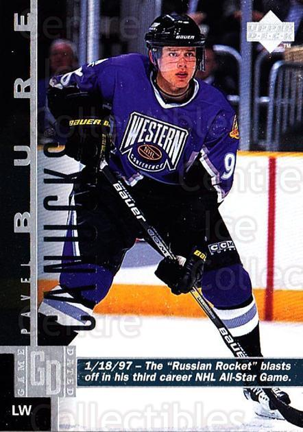 1997-98 Upper Deck #168 Pavel Bure<br/>2 In Stock - $1.00 each - <a href=https://centericecollectibles.foxycart.com/cart?name=1997-98%20Upper%20Deck%20%23168%20Pavel%20Bure...&quantity_max=2&price=$1.00&code=187648 class=foxycart> Buy it now! </a>