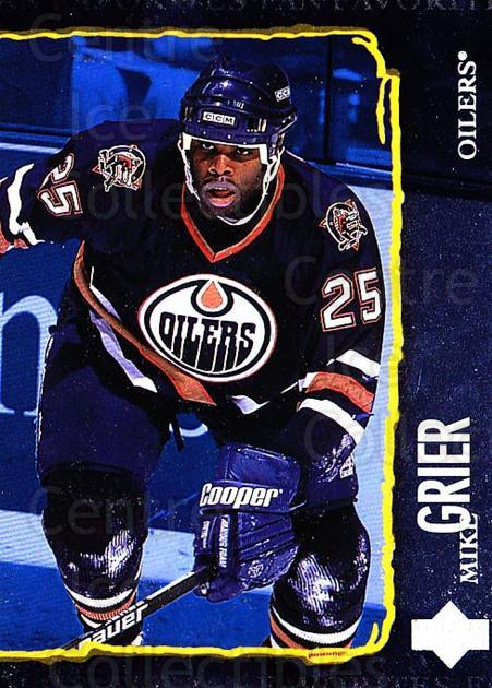 1997-98 Upper Deck #207 Mike Grier<br/>6 In Stock - $1.00 each - <a href=https://centericecollectibles.foxycart.com/cart?name=1997-98%20Upper%20Deck%20%23207%20Mike%20Grier...&quantity_max=6&price=$1.00&code=187690 class=foxycart> Buy it now! </a>