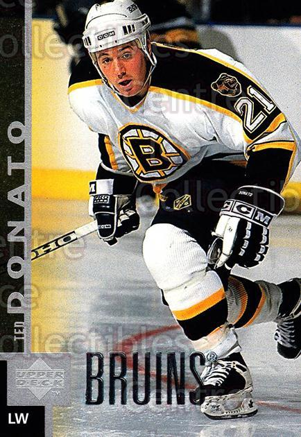 1997-98 Upper Deck #221 Ted Donato<br/>14 In Stock - $1.00 each - <a href=https://centericecollectibles.foxycart.com/cart?name=1997-98%20Upper%20Deck%20%23221%20Ted%20Donato...&quantity_max=14&price=$1.00&code=187706 class=foxycart> Buy it now! </a>