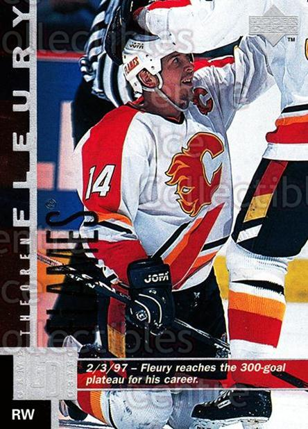 1997-98 Upper Deck #232 Theo Fleury<br/>13 In Stock - $1.00 each - <a href=https://centericecollectibles.foxycart.com/cart?name=1997-98%20Upper%20Deck%20%23232%20Theo%20Fleury...&quantity_max=13&price=$1.00&code=187718 class=foxycart> Buy it now! </a>