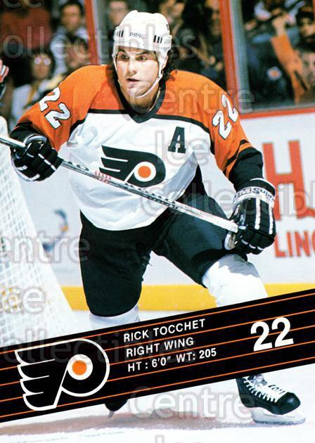 1990-91 Philadelphia Flyers Postcards #24 Rick Tocchet<br/>4 In Stock - $3.00 each - <a href=https://centericecollectibles.foxycart.com/cart?name=1990-91%20Philadelphia%20Flyers%20Postcards%20%2324%20Rick%20Tocchet...&quantity_max=4&price=$3.00&code=18771 class=foxycart> Buy it now! </a>