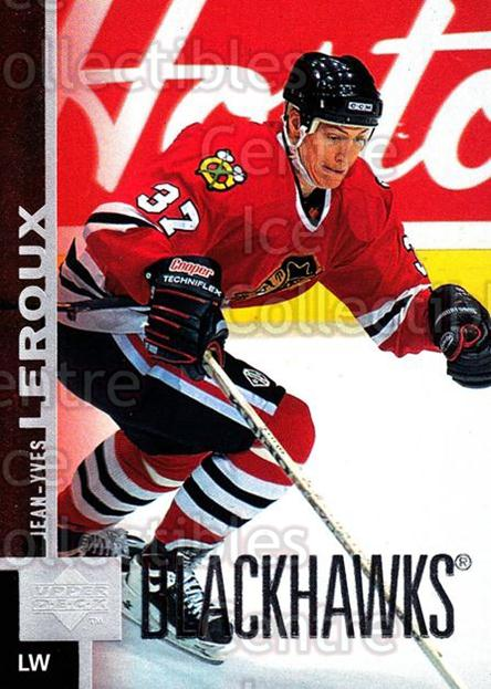 1997-98 Upper Deck #249 Jean-Yves Leroux<br/>13 In Stock - $1.00 each - <a href=https://centericecollectibles.foxycart.com/cart?name=1997-98%20Upper%20Deck%20%23249%20Jean-Yves%20Lerou...&quantity_max=13&price=$1.00&code=187735 class=foxycart> Buy it now! </a>