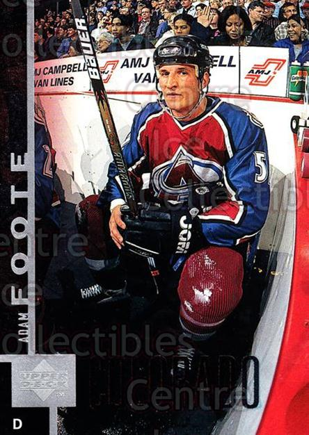1997-98 Upper Deck #255 Adam Foote<br/>15 In Stock - $1.00 each - <a href=https://centericecollectibles.foxycart.com/cart?name=1997-98%20Upper%20Deck%20%23255%20Adam%20Foote...&quantity_max=15&price=$1.00&code=187742 class=foxycart> Buy it now! </a>