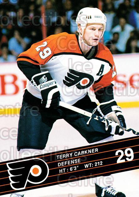 1990-91 Philadelphia Flyers Postcards #4 Terry Carkner<br/>3 In Stock - $3.00 each - <a href=https://centericecollectibles.foxycart.com/cart?name=1990-91%20Philadelphia%20Flyers%20Postcards%20%234%20Terry%20Carkner...&quantity_max=3&price=$3.00&code=18774 class=foxycart> Buy it now! </a>