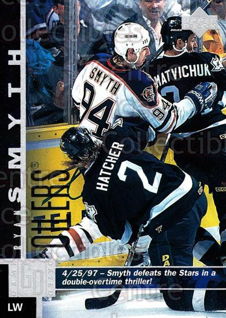 1997-98 Upper Deck #274 Ryan Smyth<br/>15 In Stock - $1.00 each - <a href=https://centericecollectibles.foxycart.com/cart?name=1997-98%20Upper%20Deck%20%23274%20Ryan%20Smyth...&quantity_max=15&price=$1.00&code=187761 class=foxycart> Buy it now! </a>