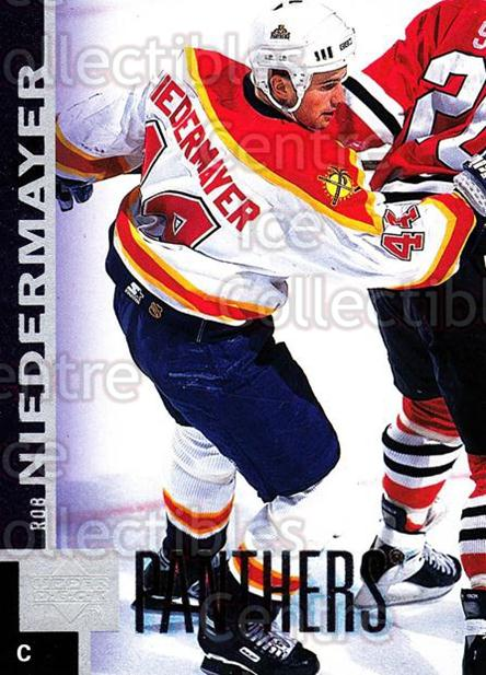 1997-98 Upper Deck #281 Rob Niedermayer<br/>14 In Stock - $1.00 each - <a href=https://centericecollectibles.foxycart.com/cart?name=1997-98%20Upper%20Deck%20%23281%20Rob%20Niedermayer...&quantity_max=14&price=$1.00&code=187769 class=foxycart> Buy it now! </a>