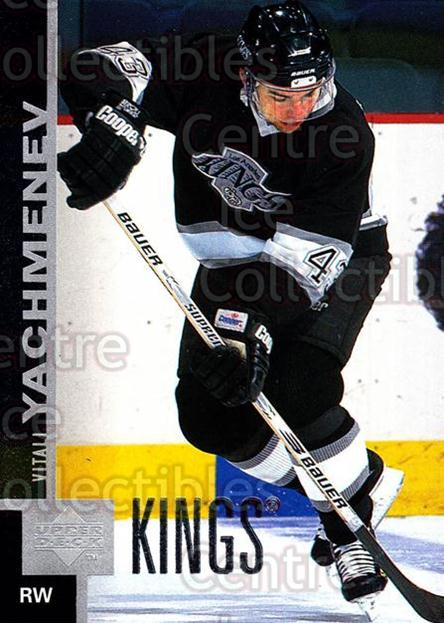 1997-98 Upper Deck #291 Vitali Yachmenev<br/>13 In Stock - $1.00 each - <a href=https://centericecollectibles.foxycart.com/cart?name=1997-98%20Upper%20Deck%20%23291%20Vitali%20Yachmene...&quantity_max=13&price=$1.00&code=187779 class=foxycart> Buy it now! </a>