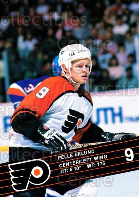1990-91 Philadelphia Flyers Postcards #7 Pelle Eklund<br/>5 In Stock - $3.00 each - <a href=https://centericecollectibles.foxycart.com/cart?name=1990-91%20Philadelphia%20Flyers%20Postcards%20%237%20Pelle%20Eklund...&quantity_max=5&price=$3.00&code=18777 class=foxycart> Buy it now! </a>